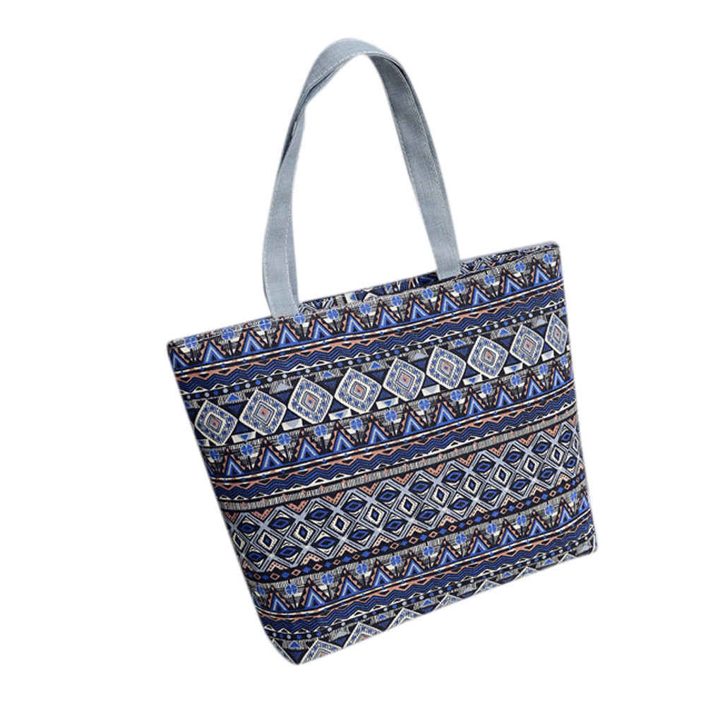Women Bags Shoulder-Bag Shopping-Handbag Geometric-Print Striped Girls High-Quality Casual