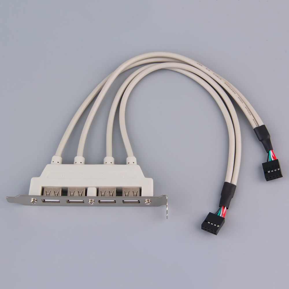 4-Port USB2.0 اللوحة الخلفية توسيع قوس المضيف محول جديد