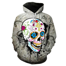 Skull Printed Hoodies 3D Men Women Sweatshirts Novelty Streetwear