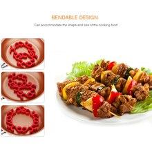 Силиконовый стеллаж для жарки гибкий жаростойкий коврик для жарки кольцо печь для мяса безопасная птица овощи Здоровый Инструмент для приготовления пищи