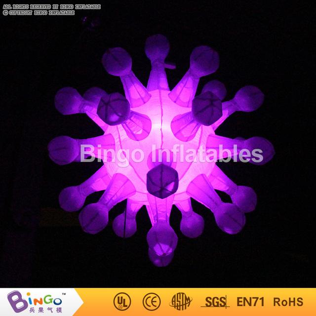 Entrega gratuita de La Boda etapa telón de fondo de la decoración de iluminación Inflable light-up de Los Copos de nieve de juguete