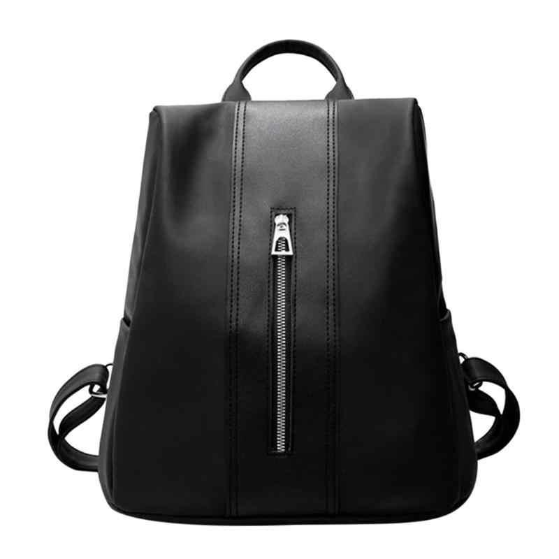 dc02ff57e259 Для женщин рюкзак кожа нейлон школьные сумки дорожные Повседневное  Однотонная Одежда для девочек-подростков сумка