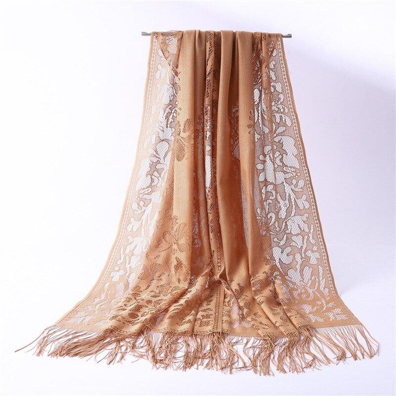 2019 Fashion Women Scarf Hollowing Soft Long Size Pashmina Ladies Shawls And Wraps Bandana Hijiabs Scarves