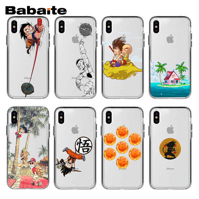 Son Goku Dragon Ball Transparent Cover Case for iPhone Models