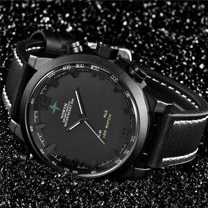 Image 2 - Luksusowa marka North Casual sport zegarek kwarcowy mężczyźni skórzany analogowy cyfrowy zegarek elektroniczny wojskowy zegarki człowiek Relogio Masculino