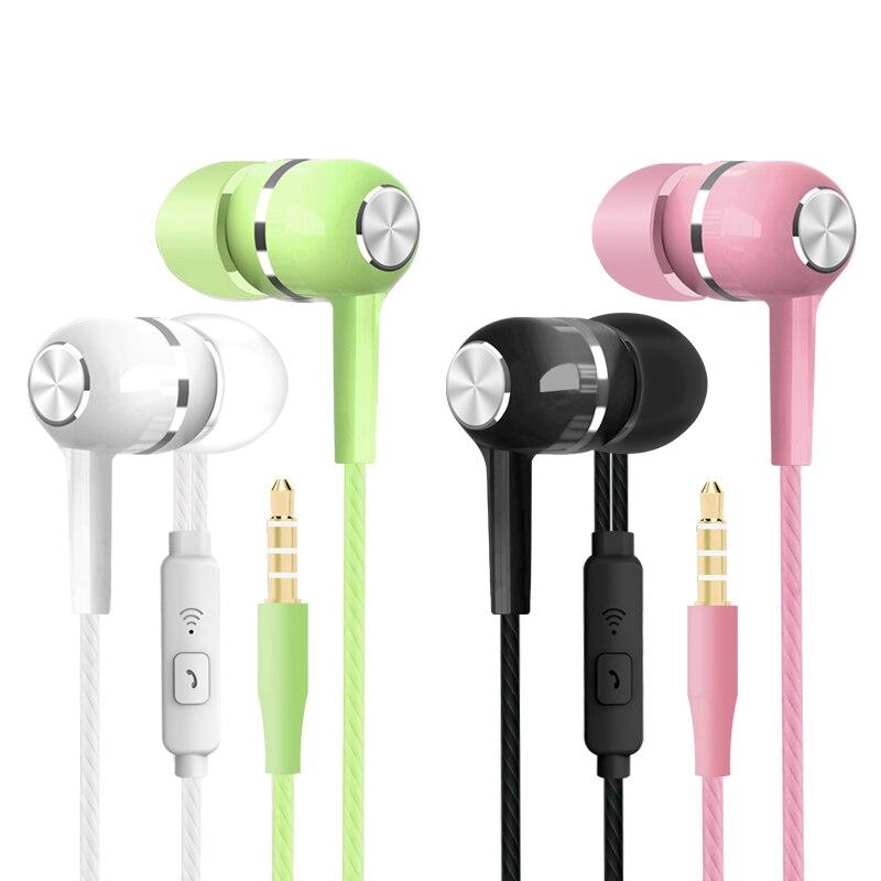 HAOBA S12 deporte auricular con Cable Super Bass 3,5mm auricular Colorfu auricular con micrófono para teléfonos xiaomi Samsung