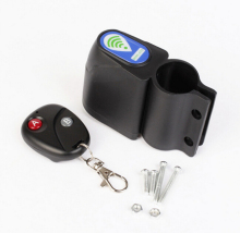 Burglar alarm remote alarm bicycle lock bike lock anti theft alarm system with remote control