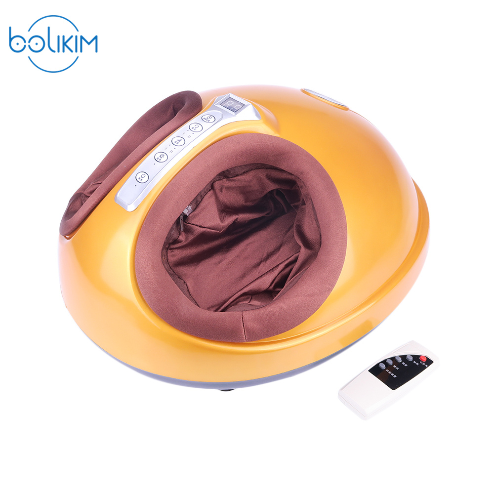 BOLIKIM Shiatsu Reflexology Vibrating Roller Foot Massager Health Massage Infrared Heating Electric Automaton Heating Machine electric foot massager foot massage machine for health care personal air pressure shiatsu infrared feet massager with heat 50030
