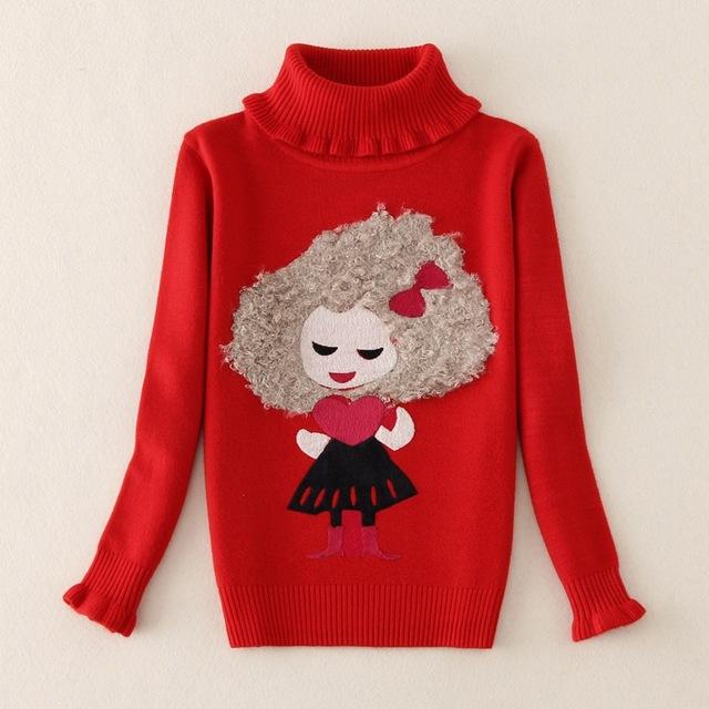 Blusas 2016 Meninas do Natal dos miúdos Meninas Cardigan Crianças Roupas de Inverno Camisola de Malha Pullovers Camisolas Meninas Blazer