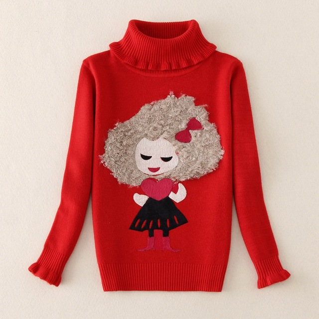 Kids Christmas Sweaters 2016 Girls Knitted Sweater Winter Girls Cardigan Children Clothing Pullovers Sweaters Girls Jumper