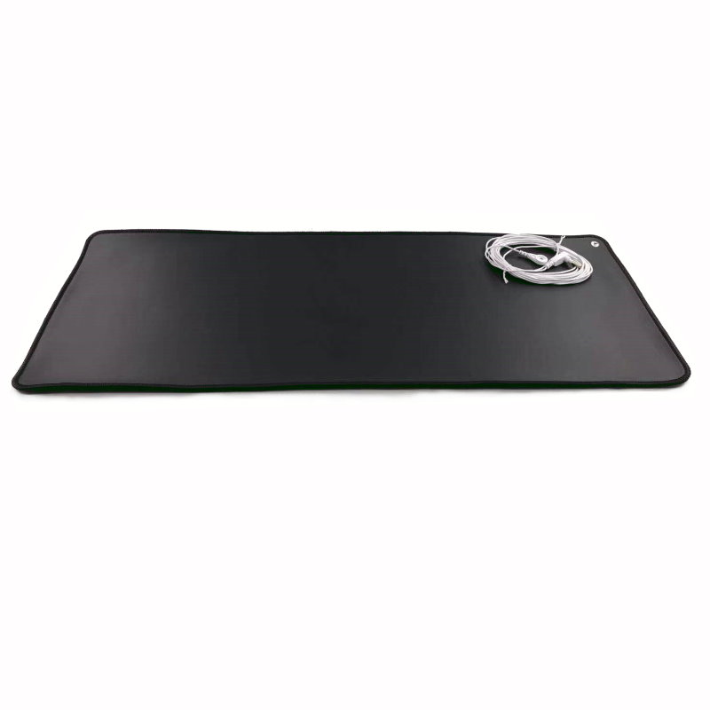 Earthing Mat With The Conductive With Cover Bag EMF Protection ESD Mat Anti-fatigue Anti-free Radicals 68*26cm (27*10Inch) Black