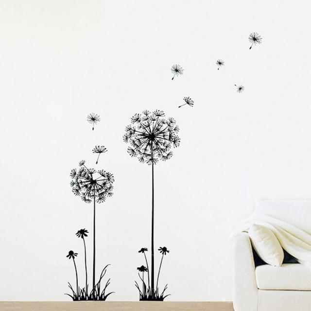 DIY Creative Dandelion Wall Art Decal Paper Removable Mural