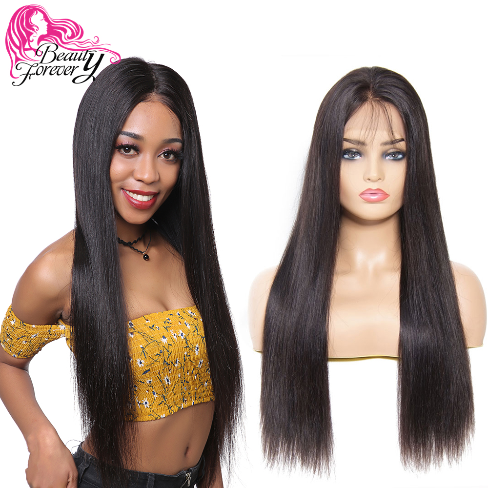 Beauty Forever 13 4 6 Long Brazilian Straight Lace Front Remy Human Hair Wigs with Baby