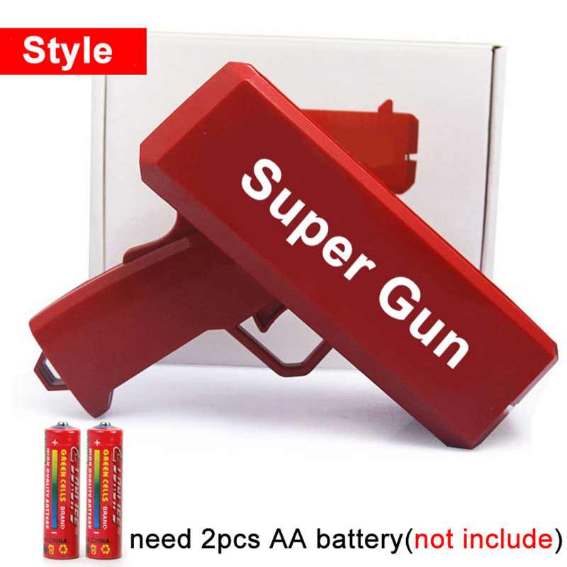 1PCS Cash Cannon Money Gun Bar Party Fashion Toy Cool Toys Gift Game Funny Money Pistol Super Gun Toy with 100 Bills ST06 свитшот print bar get money