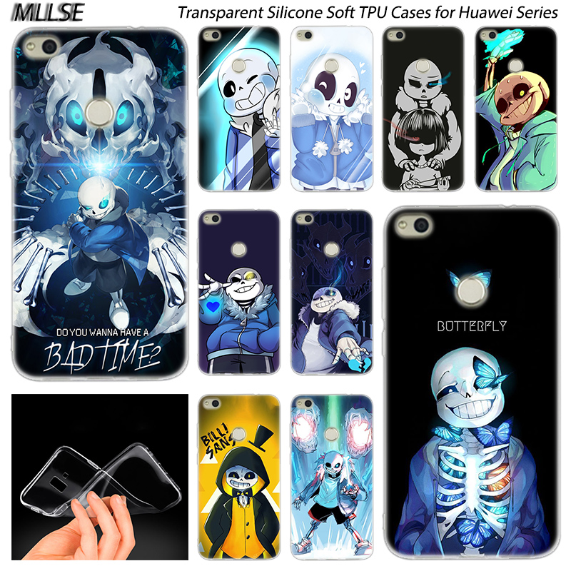 Hot Coque Undertale Sans <font><b>Silicone</b></font> <font><b>Case</b></font> for Huawei NOVA 3 3i 4 <font><b>Honor</b></font> 7A Pro <font><b>7S</b></font> 6X 7X 8X 8 9 10 Lite Play View 20 Fashion Cover image