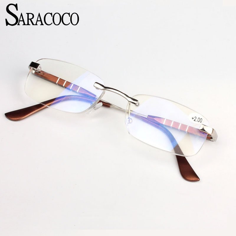 SARACOCO High Quality Reading Glasses Women Men Retro Luxury Brand Designer Alloy Eyewear Hyperopia Presbyopia T04