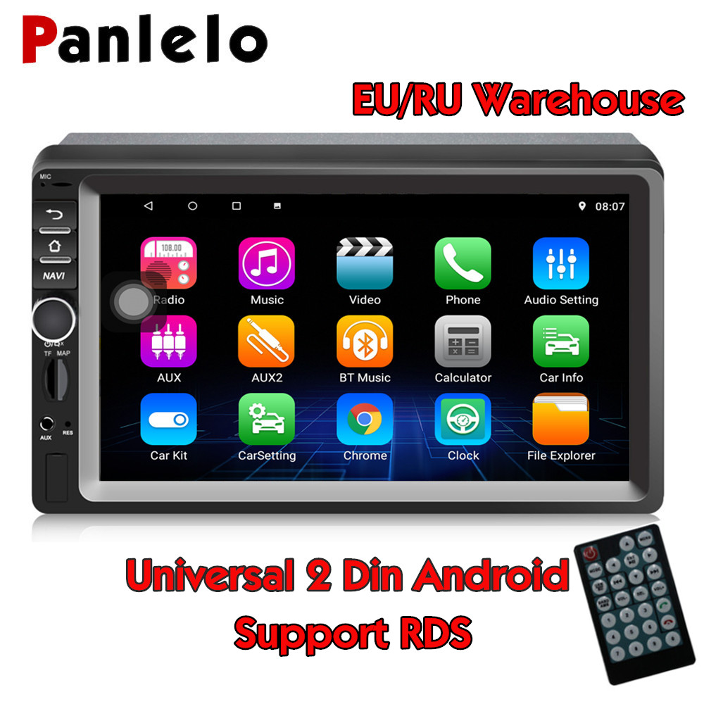 Panlelo S1X 2 Din Android Car Stereo 7 inch 1080P GPS Navigation Audio Radio Android Multimedia Android Car Player For Lada Kia