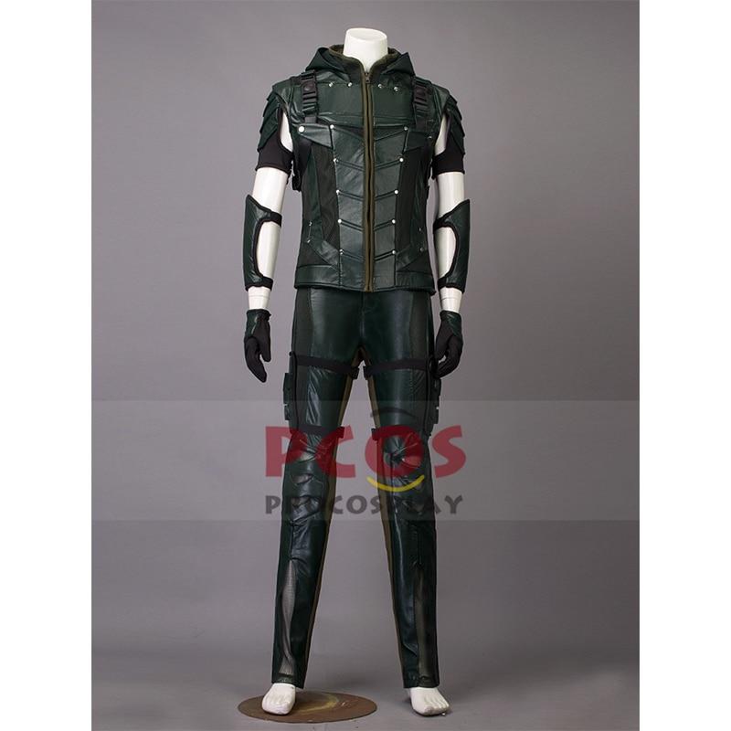 Oliver Queen Cosplay Kostuum stad beschermer cosplay Seizoen 4 Groene - Carnavalskostuums
