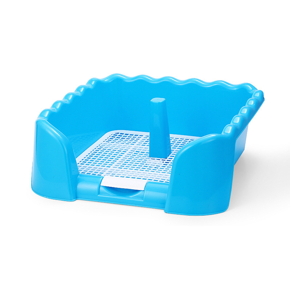Portable Pet Dog Toilet Tray With Column Urinal Bowl Pee Training Toilet Grid Toilet With Fence Pee Post For Small Pet Potty
