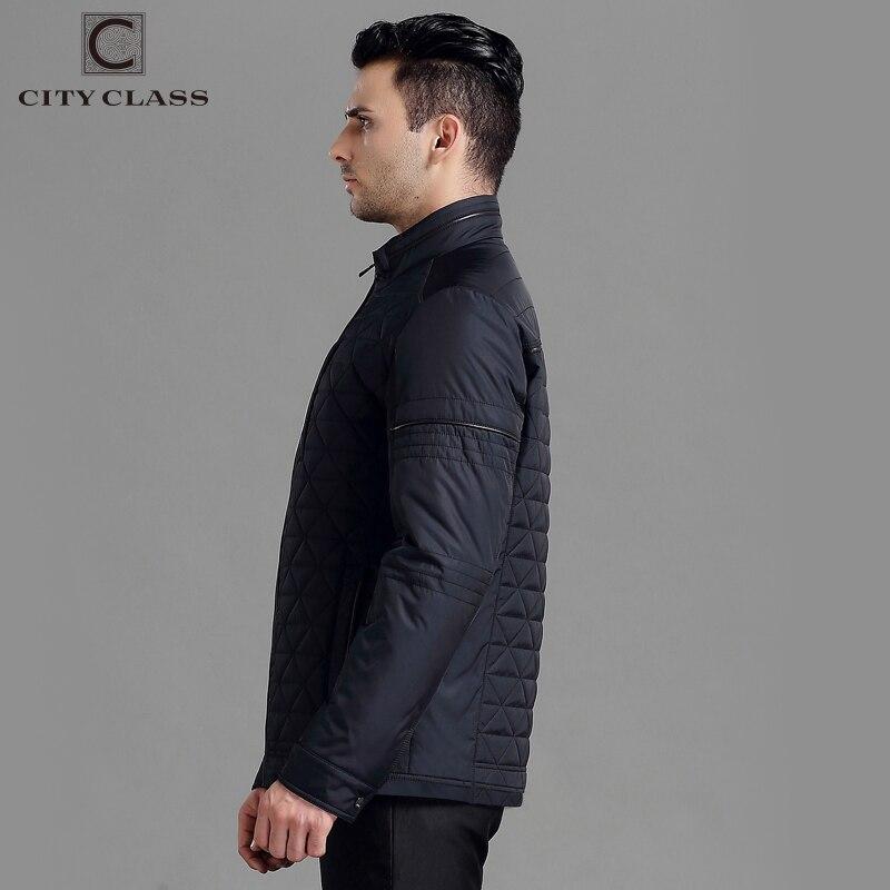 11fa51fe6a4 ... город класса новые мужские осень куртки и пальто мода топ кэжуал  короткие стойка воротник стеганые куртки ...