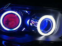 Car Styling Retrofit 2 5 H1 HID WST Bixenon Projector Headlight Lens With Devil Eyes Fit