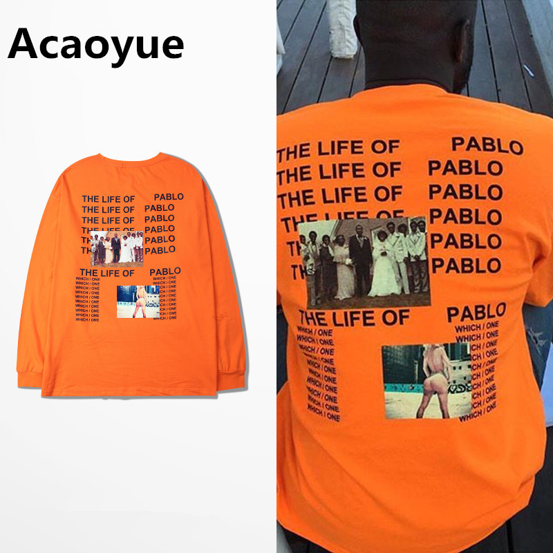 HTB1XDsOQFXXXXb1aXXXq6xXFXXXr - Brand Kanye West T shirt I Feel like Pablo Kanye Orange Tee PTC 107