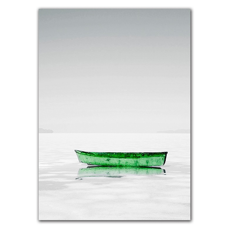 Minimalist Landscape Sailing Boat Canvas Art Painting Posters Prints Wall Pictures For Living Room Modern Home Decor No Frame in Painting Calligraphy from Home Garden