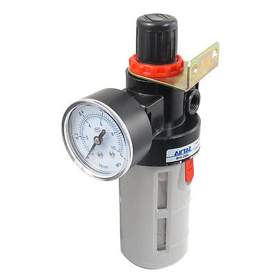 BFR Series BFR-2000 Gas Source Treatment Pneumatic Filter Regulator 1/4PT 1 4 bfr 2000 air source gas treatment pressure filter regulator model bfr2000 with pressure gauge