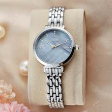 2016 New Brand Gold Crystal Casual Quartz Watch Women Metal Mesh Stainless Steel Dress Watches Relogio