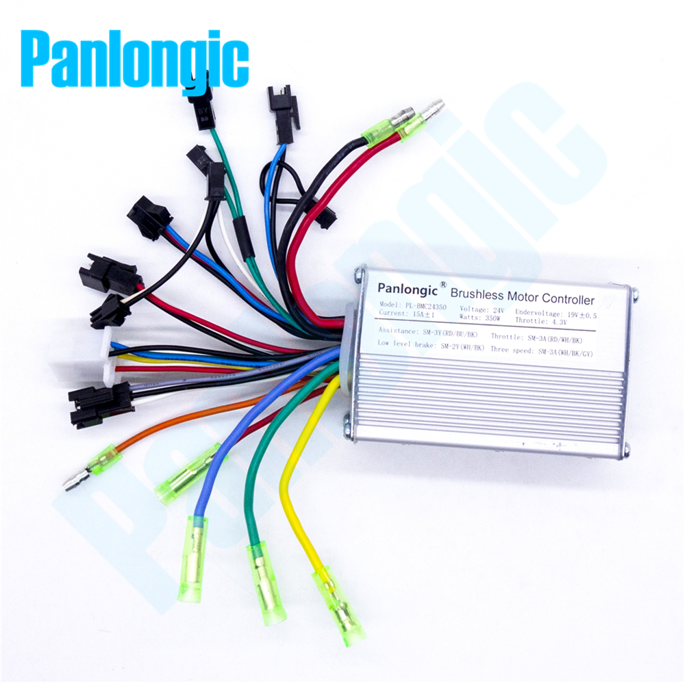 panlongic 24v 350w electric bicycle e bike scooter brushless dc motor speed controller for mtb [ 1000 x 998 Pixel ]