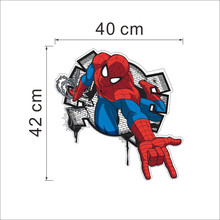 Marvel 3D view Spiderman Wall Stickers For Kids Rooms Boys Bedroom Home Decoration Cartoon Hero Movie Decals PVC Mural Art
