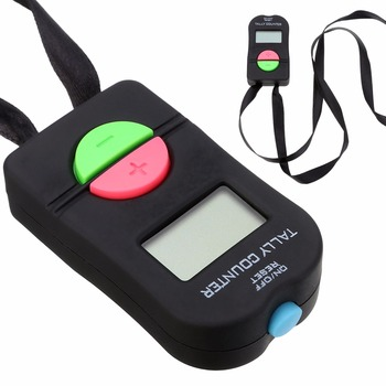 1pc 0-9999 Digital Tally Counter Black ABS Tally Counter Electronic Manual Clicker Security Running For Golf Gym digital tally counter black abs tally counter electronic manual clicker security running for golf gym