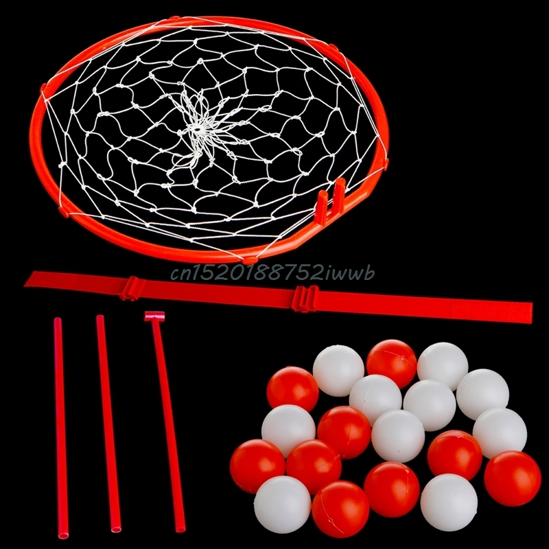 Headband Hoop Ball Toy Catching Basketball Kid Game Head Strap with 20 Balls  #T026#
