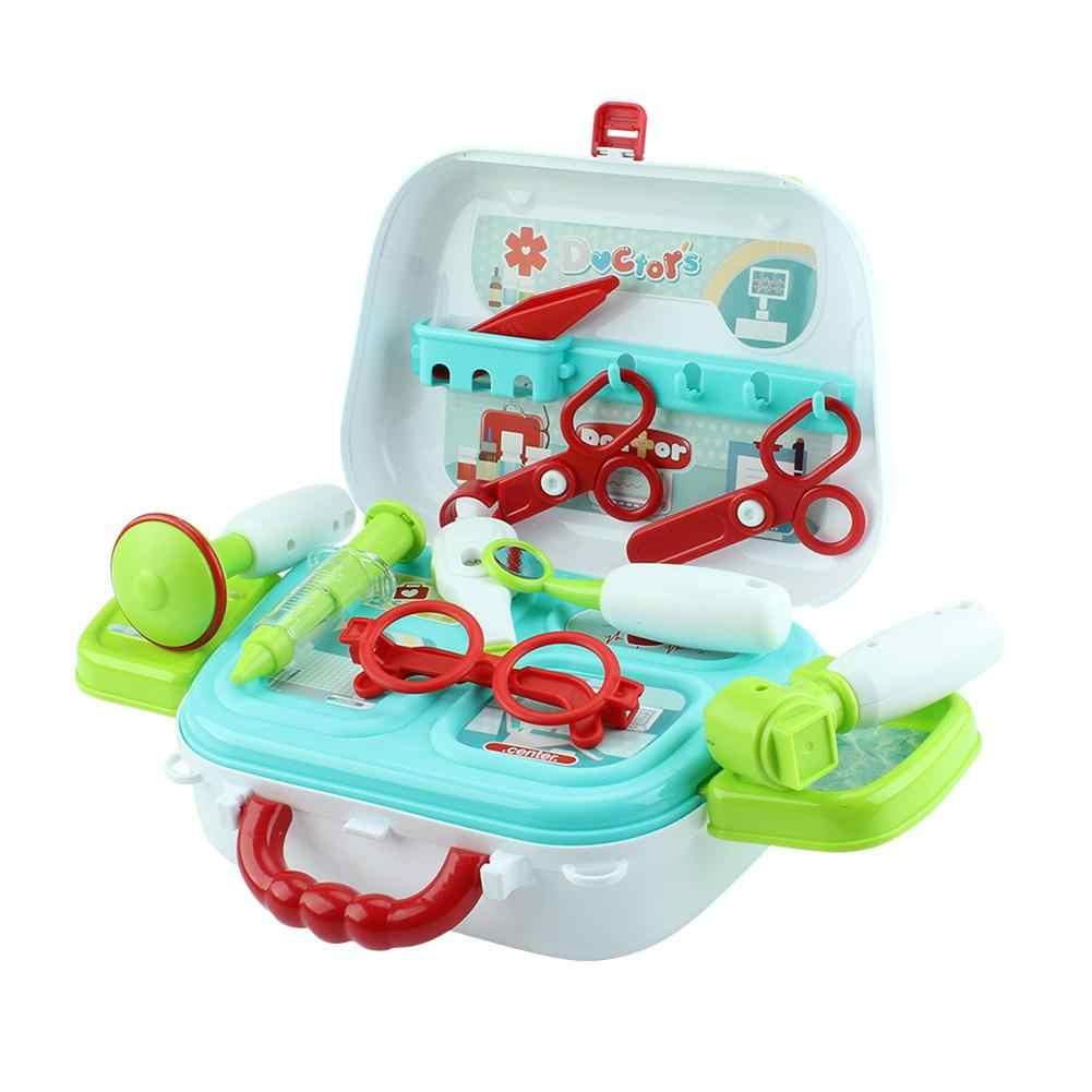 """15 шт./компл. Детский Набор доктора игрушка """"Медсестра"""" набор с электронный стетоскоп развивающий доктор игрушки дети развивающие ролевые игры"""