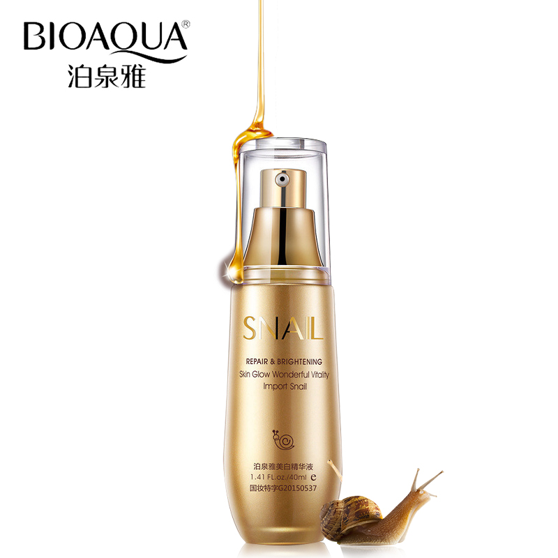 BIOAQUA Brand Skin Care Snail Whitening Essence Hyaluronic Acid Liquid Anti Wrinkle Anti Aging Collagen Moisturizing Day Cream цена 2017
