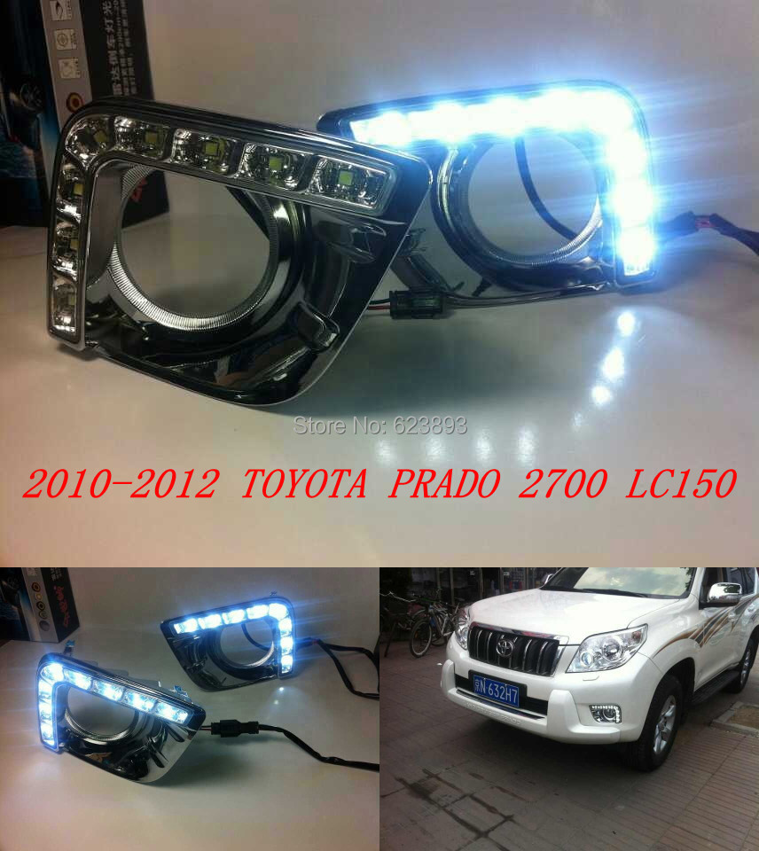 For Toyota Prado 2700 LC/FJ150 LED DRL Daytime running light fog ...