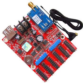 цена на Hot Sale indoor outdoor P10 LED Module Control Card TF-M6UW Mobile WIFI Wireless & USB Driver LED Single 3 Color LED Module