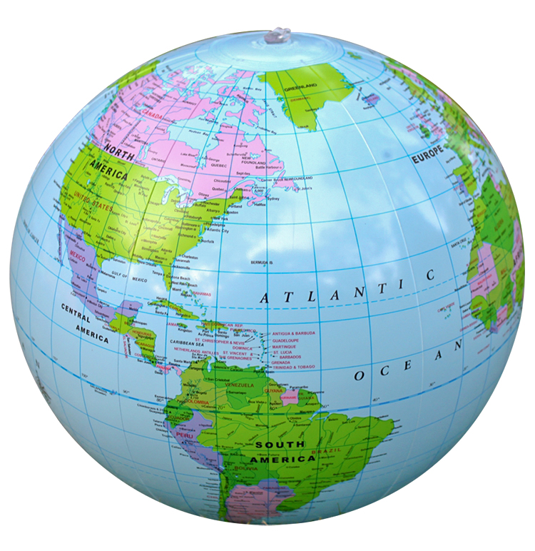 30cm Inflatable Globe World Earth Ocean Map Ball Geography Learning Educational Beach Ball Kids Office Decoration