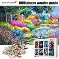 MOMEMO Landschaft Neben Die Teich Puzzles 1000 für Erwachsene Holz Puzzle Spielzeug Puzzles Spiele Puzzle für Kinder Spielzeug
