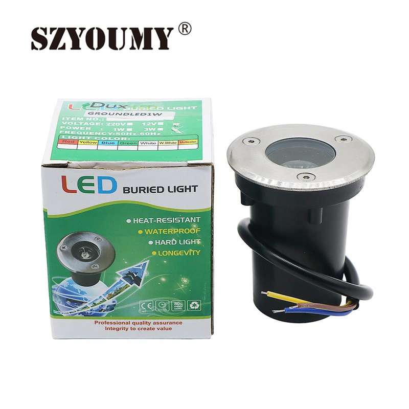 Obedient Szyoumy New Ip67 Waterproof 1w Ac 85-265v Led Outdoor Ground Garden Path Floor Underground Buried Yard Lamp Spot Landscape Light Good Companions For Children As Well As Adults Lights & Lighting