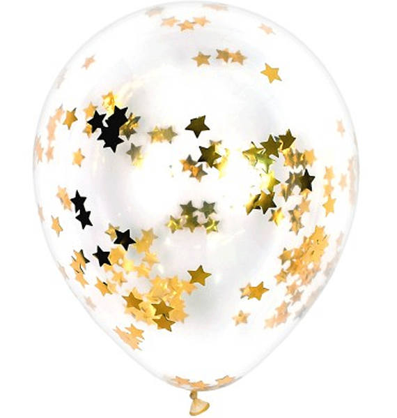10 stks/partij Clear Ballonnen Gouden Ster Folie Confetti Transparante Ballonnen Gelukkige Verjaardag Baby Shower Wedding Party Decoraties 2