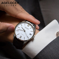 AGELCOER Swiss Mechanical Watch Business Men Luxury Brand Watches Dive 50m Watch Mens Male Clock Wristwatch Relogio Masculino