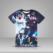 2017 Summer fashion 3d print Lionel Messi t shirt men Cristiano Ronaldo short sleeve T-shirts cheap clothes o-neck clothing