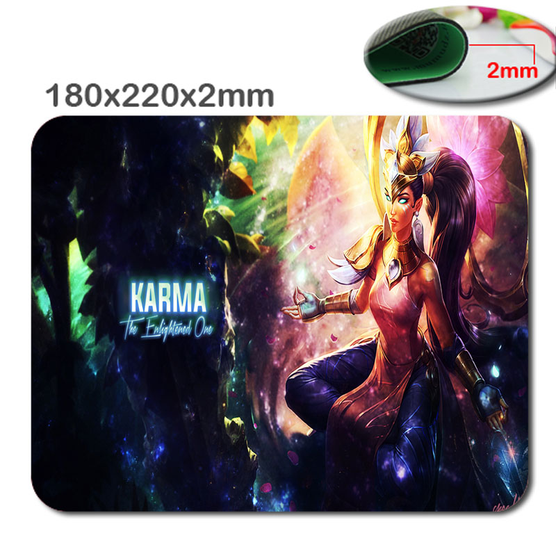 Order of the Lotus Karma mouse pad lol pad mouse League laptop mousepad 2015 new gaming padmouse gamer of Legends keyboard mats image