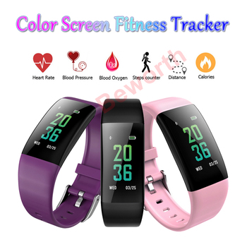 5pcs Heart Rate Fitness Smart Bracelets Band Sports Band Blood Oxygen/ Pressure Monitor Health Tracker Color Screen Watch