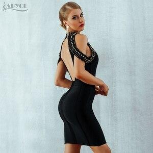 Image 5 - ADYCE 2020 חדש קיץ שחור תחבושת שמלת נשים Vestidos סקסי ללא משענת ואגלי Bodycon מועדון שמלת סלבריטאים ערב המפלגה שמלה