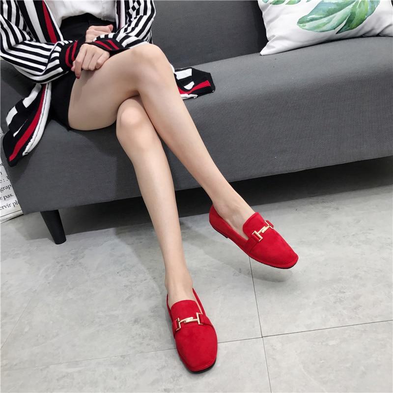 Carré Femmes Métal Pic Chaussures Peu Sapatos Mariage as Pic Daim Classique À Profonde Chic Concis Mulher Bout En Mocassins As Déc Feminino PItqnnFw