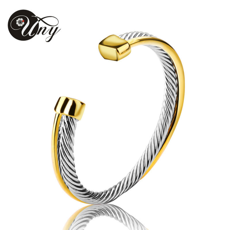 UNY Bangle Antique Twisted Wire Cross Bracelet Fashion Designer Brand Vintage Bangles Christmas Free Ship Womens Cuff Bracelets