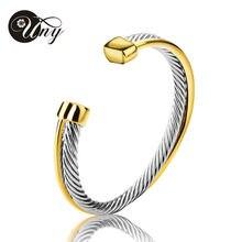UNY Bangle Antique Twisted Wire Cross Bracelet Fashion Designer Brand Vintage Bangles Christmas Free Ship Womens Cuff Bracelets