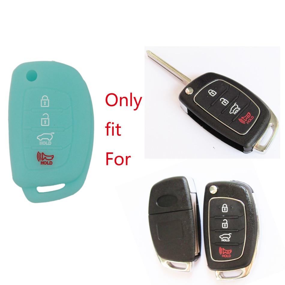 1 stk 4 knapper glød silikon bil nøkkel tilfelle deksel for hyundai - Bilinnredningstilbehør - Bilde 2